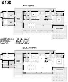 Scandinavian Architecture, Contemporary Architecture, Scandinavian Style, Compact Living, Beautiful Homes, House Plans, Floor Plans, Cottage, How To Plan