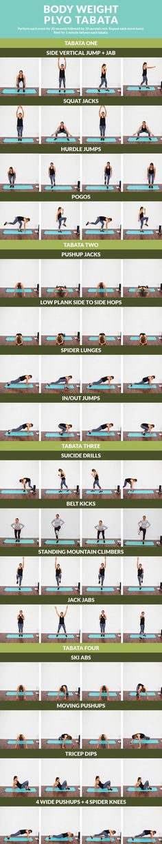 Body Weight Plyo Tabata - No weights workout to get your heart and muscles pumping!