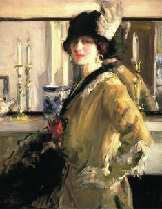 Francis Cadell - The Black Hat (1914)