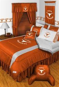 Texas Longhorns Bedroom Set <-- that's what I'm talkin' about! Hook'em Horns!