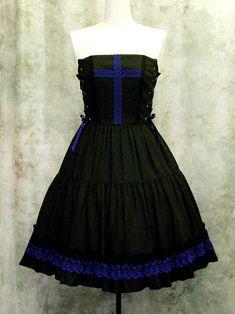 Black/Blue Version EGL dress   - Moi-meme-Moitie Online Shop