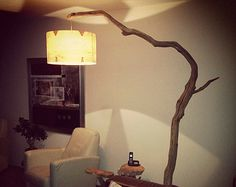 Image 7 of 20 from gallery of Unusual Floor Lamps to Give Statement for Your Home Interior. This old oak branch arc floor lamp in natural finish with real wood veneer offer a vintage touch for your interior decoration Unusual Floor Lamps, Unique Lamps, Wooden Floor Lamps, Arc Floor Lamps, Ikea Living Room, Living Room Flooring, Arc Lamp, Lamps For Sale, Oil Lamps