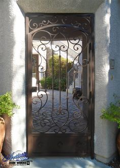 Wrought Iron Entryway  - Model: Biscay EW0605