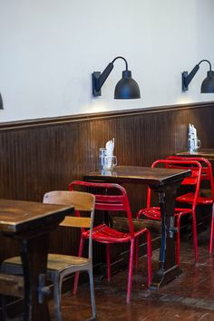 restaurant interior design dont like these chairs lamps are cool enough - Light Hardwood Restaurant Decoration
