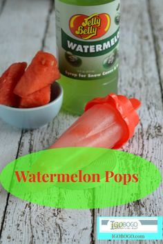 Watermelon pops make a Yummy Refreshing treat for Summer!!