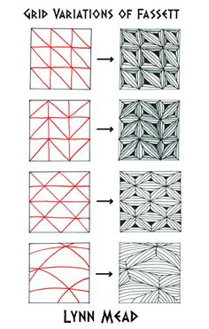 How to draw FASSETT GRID VARIATIONS « TanglePatterns.com