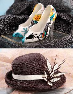 chocolate shoe and hat by Carl Warner