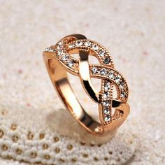 Chic Style Rhinestoned Braid Shape Alloy Ring, AS THE PICTURE, ONE SIZE in Rings | DressLily.com