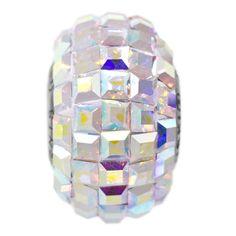 15mm Crystal AB Swarovski Elements Crystal Square Rhinestone BeCharmed Pavé Bead | Fusion Beads #inspirationinbloom