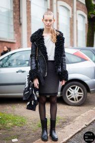 STYLE DU MONDE / Milan Fashion Week FW 2014 Street Style: Ondria Hardin  // #Fashion, #FashionBlog, #FashionBlogger, #Ootd, #OutfitOfTheDay, #StreetStyle, #Style