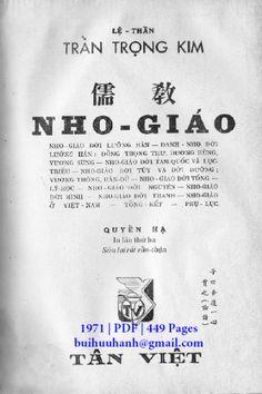 Nho Giáo Quyển Hạ (NXB Tân Việt 1971) - Trần Trọng Kim, 449 Trang   Sách Việt Nam Dots, Personalized Items, Stitches