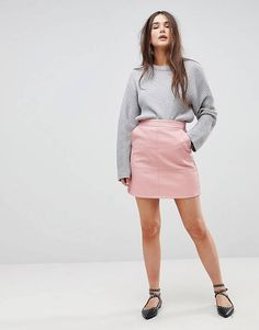 605b417b1e DIY Leather A-Line Skirt with FREE Sewing Tutorial | DIY. sewing, et ...