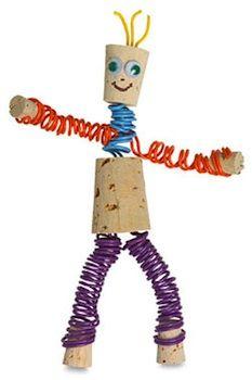 15 Cork craft projects for kids. Kids Crafts, Save On Crafts, Craft Projects For Kids, Adult Crafts, Crafts To Make, Craft Ideas, Crafty Projects, Wine Craft, Wine Cork Crafts