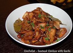 Spanish Style Sauteed Chicken with Garlic on http://blog.sigsiv.com
