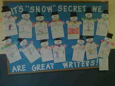 Winter Writing Bulletin Board