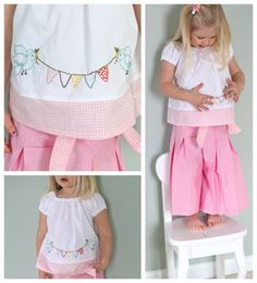 TO MAKE - The blouse and pleated pants! Spring Bird Embroidery Pattern + Tutorial « Sew,Mama,Sew! Blog