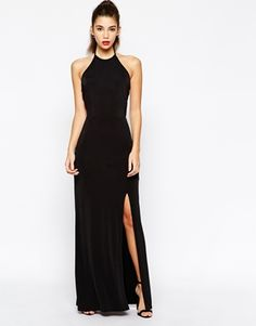 Love+Halterneck+Bodycon+Maxi+Dress+With+Open+Back