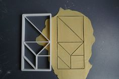 Tangram cookie cutter 3D printed by Printmeneer on Etsy, €11.00