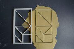 Tangram cookie cutter, 3D printed via Etsy