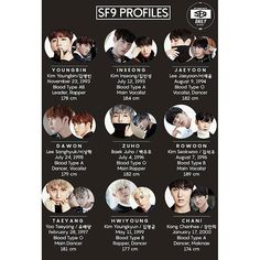 SF9 are debuting the 5th in Korea!!! For those getting into them, here's their profile! Look forward to their debut and give them lots of love!!