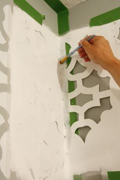 How to stencil a wall... fabulous tutorial with detailed step by step instructions.
