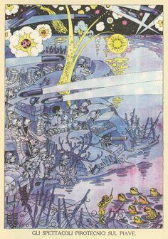 """Antonio Rubino, """"La Tradotta"""" comic, Corriere dei Piccoli, 1918"""