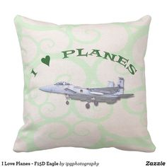 I Love Planes - F15D Eagle Throw Pillow #avgeek #aircraft #aviation #gifts #homedecor #homedesign