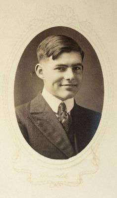 Ernest Hemingway. 17 years old, and a high school junior.