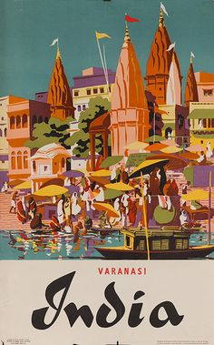 DP Vintage Posters - Varanasi Original Vintage India Travel Poster