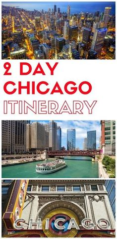 Planning a trip to Chicago for 2 days and looking for information? In this post, you will find how to spend two days in Chicago, a full itinerary. Time In Chicago, Chicago Vacation, Chicago Things To Do, Visit Chicago, Chicago Travel, Travel Usa, Chicago Trip, Chicago Places To Visit, Old Town Chicago