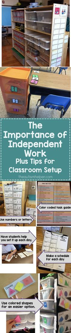 As special education teachers, you need a LOT of independent tasks in your classroom to meet individual student needs - so let's talk about how to set them up in your class! From theautismhelper.com
