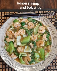 Find a lemon shrimp recipe (delish.com) and add 1 package of sliced mushrooms,  when almost done add package of chopped Shanghai Bok Choy.