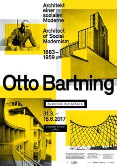 Otto Bartning poster for Akademie der Künste Berlin. Designed by Heimann + Schwantes