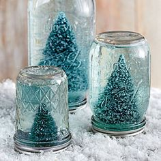 101 Fresh Christmas Decorating Ideas | Make a Mason Jar Snow Globe | SouthernLiving.com