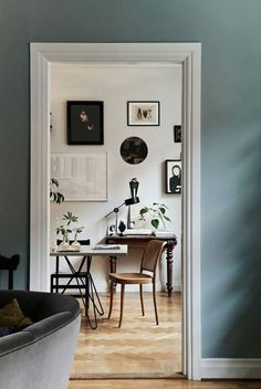 Dusty Blue Walls -- Six Paint Colors Worthy of Ditching White Walls Room Inspiration, Interior Inspiration, Sunday Inspiration, Interior Ideas, Interior Photography, My New Room, White Walls, Teal Walls, Light Blue Walls