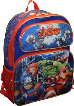 Marvel Avengers Deluxe 16 School Backpack With Amazing 3D PopUp Artworks --  Click the photo e05d08b79e3ad