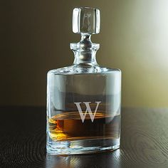 Personalized Eclipse Whiskey Decanter (Base) - Wine Enthusiast