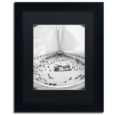 """Trademark Global 'Oculus WTC' by CATeyes Framed Photographic Print Size: 14"""" H x 11"""" W x 0.5"""" D, Matte Color: Black"""