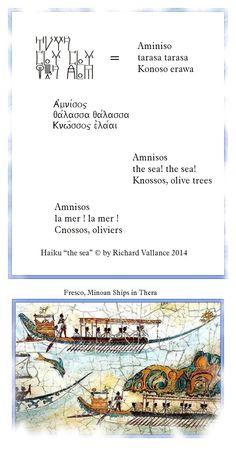 People of the Sea - Greeks, Mycenaeans, Phoenician Minoan#haiku #LinearB #Knossos #Amnisos #sea #Mediterranean Click to ENLARGE