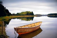 Stock Photo - A small wooden dory or rowing boat moored on flat calm water, in Savage harbour on Prince Edward Island in Canada Beautiful Islands, Beautiful Places, Peaceful Places, Beautiful Things, Places To Travel, Places To See, Pictures Of Prince, Prince Edward Island, Anne Of Green Gables