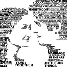 Typography Word portrait  great gift  for the ONE YOU by erezija, $25.00