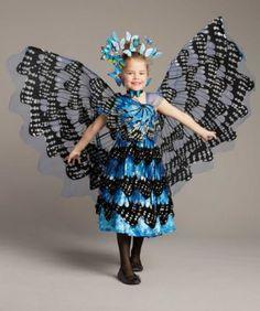 blue monarch butterfly girls costume