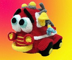 Amigurumi Pattern - Firetruck. via Etsy  This links to her patterns on Etsy that you can purchase. Tons of cute patterns!!