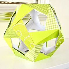 Learn how to make this polyhedron using modular origami.  Includes pictures and detailed tutorial.