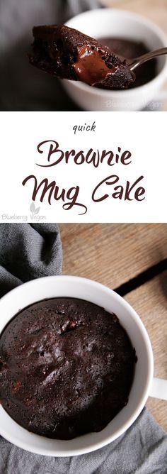 Tassenkuchen-Brownie Vegan Cake vegan cake mug - # Brownie Cupcakes, Cake Like Brownies, Brownies Mug, Nutella Brownies, Vegan Cupcakes, Vegan Brownie, Brownie Recipes, Cake Recipes, Dessert Recipes