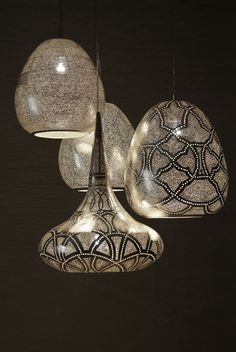 Zenza Lighting - metal light fittings made with such intricate detail.
