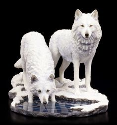 Wolf Figuren - Warriors of Winter - Lisa Parker Wölfe Sammelfigur Fantasy