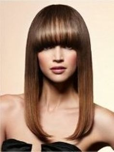 Are you looking for pictures of hairstyles with bangs? If so, come on in and learn why bangs are one your best go-to looks! Haircuts For Long Hair With Bangs, Hairstyles With Bangs, Straight Hairstyles, Hairstyle Ideas, Bob Hairstyle, Highlighted Hairstyles, Layered Hairstyle, Beach Hairstyles, Simple Hairstyles
