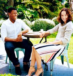 Daisy Ridley and John Boyega for Vogue