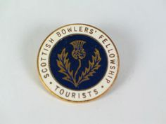 Scottish Bowling Club Badge - Scottish Bowlers Fellowship Tourists Enamel Badge